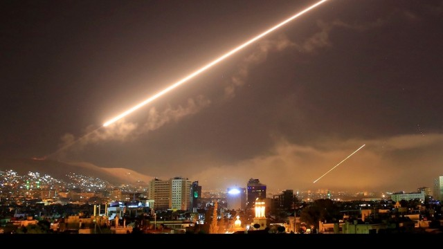 Four outlets. Four countries. Four different slants on the Syria strikes.