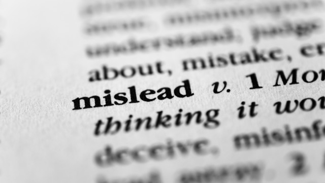 5 examples of misleading statements in the media