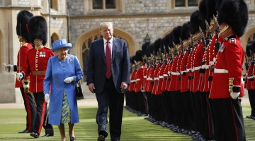 Trump meets Queen Elizabeth, Prime Minister May during UK visit