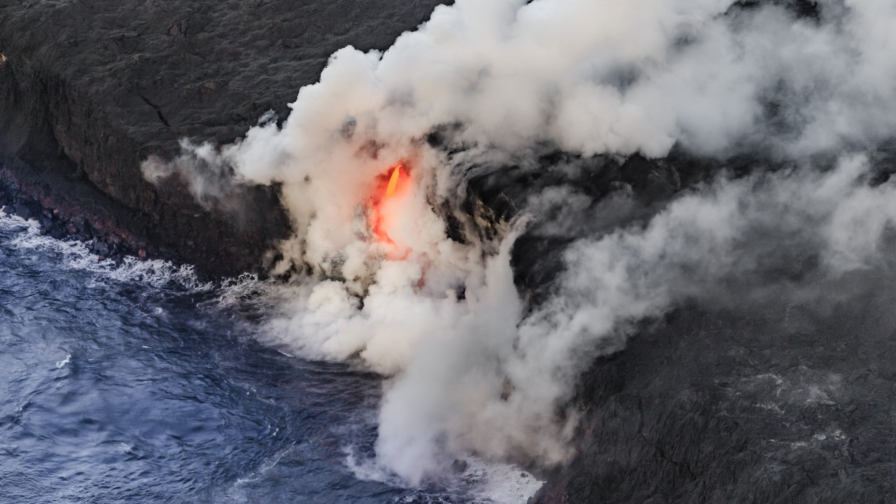Tourists Scream as Hawaii Lava Explosion Showers Tour Boat in Molten Rock